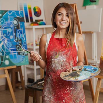 Peindre avec textures et pigments métalliques
